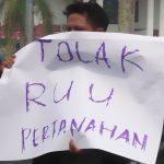 Lahan Konsensi Tiga Perusahaan di Tebo Dituntut Demonstran Untuk TORA