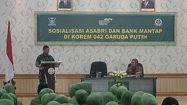 Sosialisasi PT. Asabri di Makorem 042/Gapu Jambi