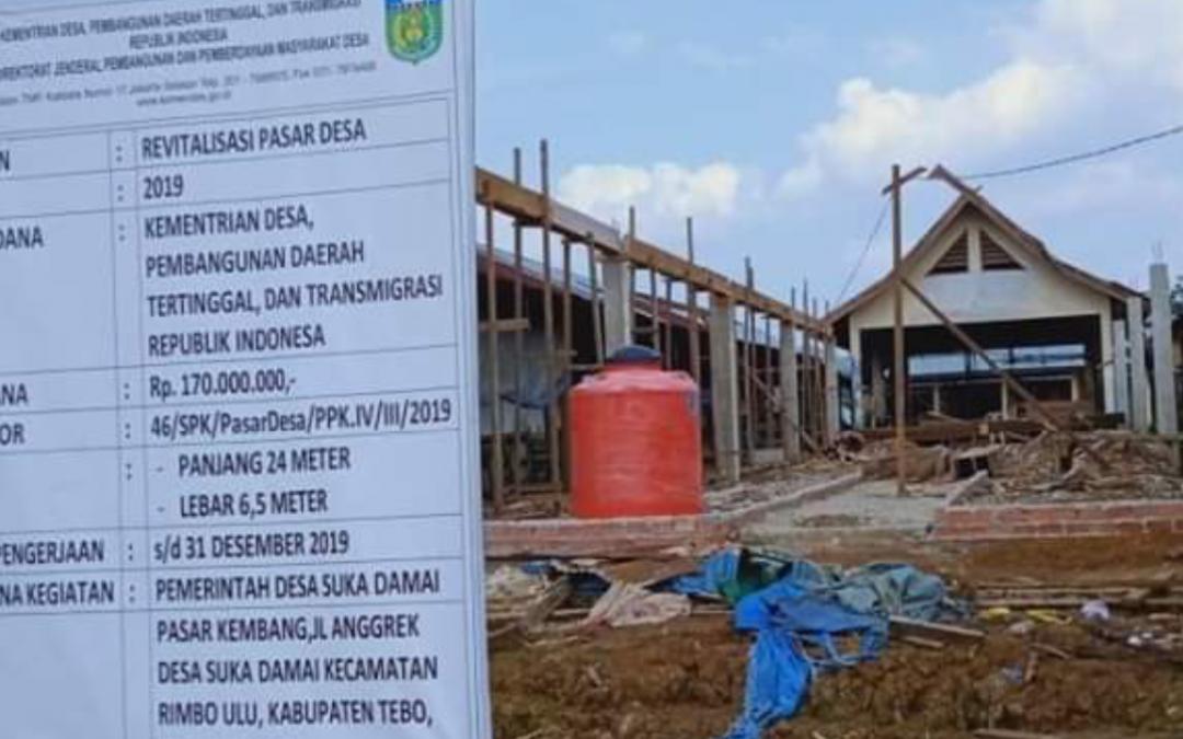 Proyek Revitalisasi Pasar Desa Masih Berproses