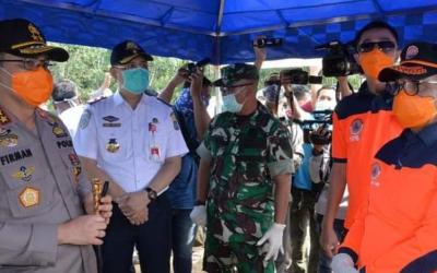 Posko Pemeriksaan Batas Terbentuk, Ketua TGT Tinjau Posko di Batas Sumsel