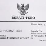 Sukandar Perintahkan Laporkan dan Awasi Orang Datang di Tebo