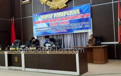 DPRD Tebo Paripurna Nota Pengantar Ranperda RPJMD