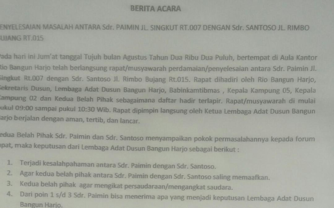 Kinerja Lembaga Adat di Dusun Bangunharjo di Sorot