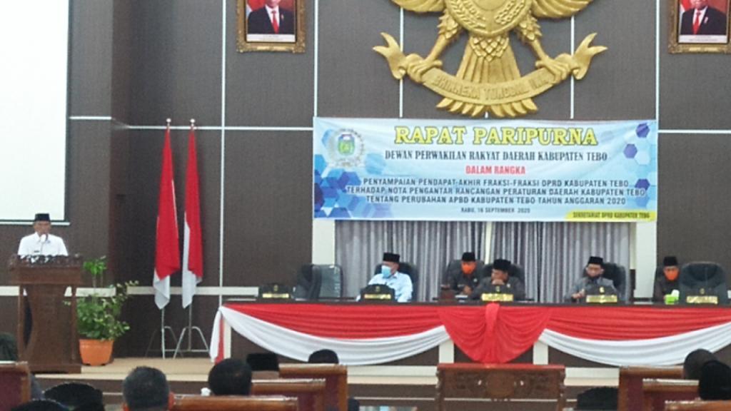 Nota Rapbd P Kabupaten Tebo Ta 2020 Disepakati Dprd Tebo Jambi Otoritas