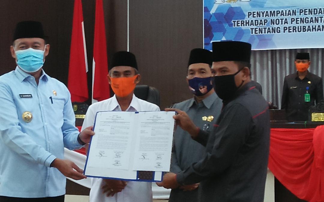 Nota RAPBD P Kabupaten Tebo TA 2020 Disepakati DPRD Tebo