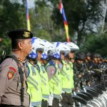Personel PAM Pemilu di TPS di Lepas Kapolda