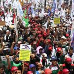 Giliran Buruh Unjuk Rasa Damai, Tolak Revisi UU Ketenagakerjaan