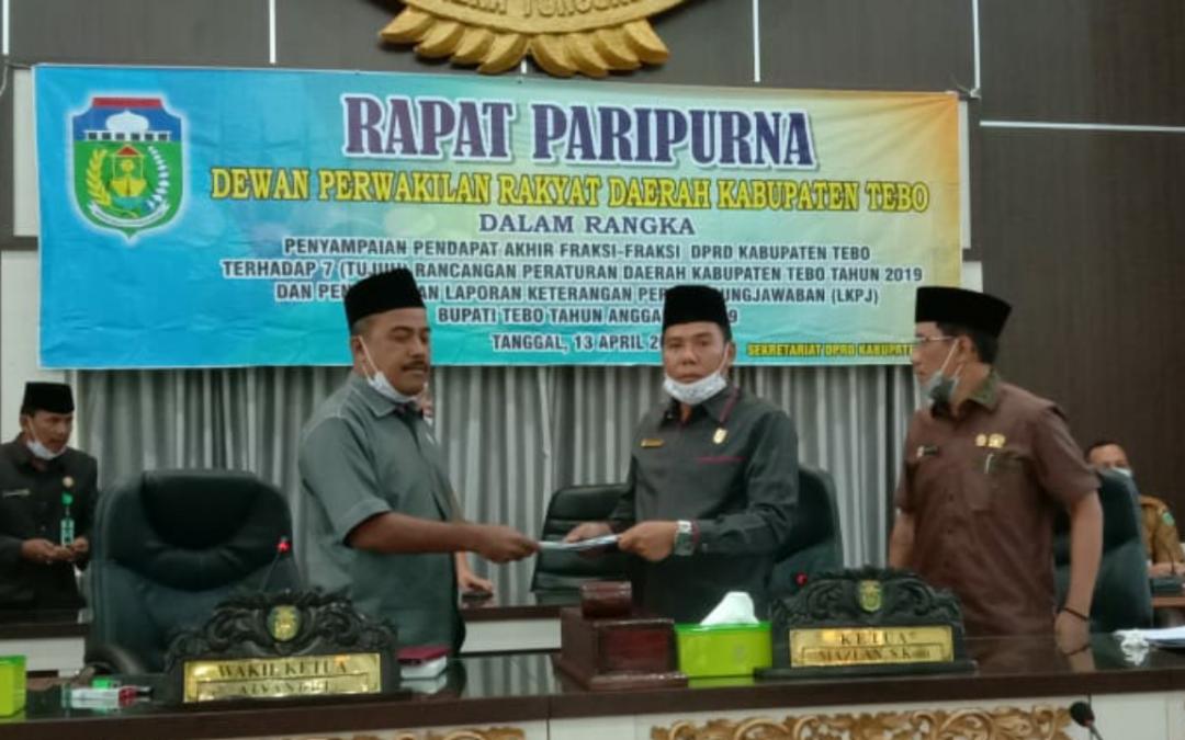 Via Video Telekonfrens DPRD Setujui Produk Hukum Daerah