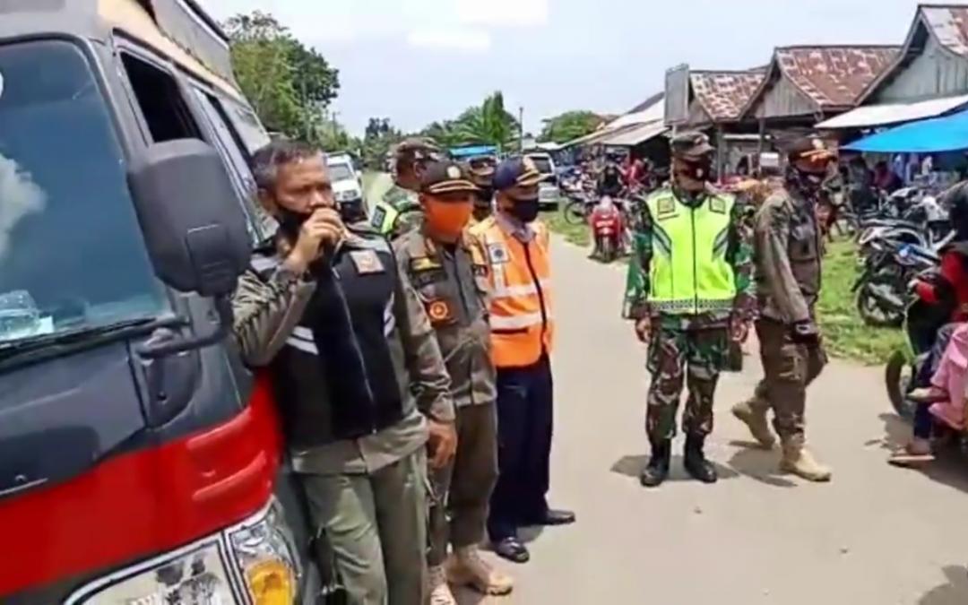 TGT COVID Tebo, Sanksi Ratusan Warga di Pasar Teluk Singkawang