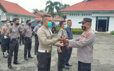 Kasat Binmas Polres Tebo Cek Keadaan Personil Satpam RSUD STS Tebo