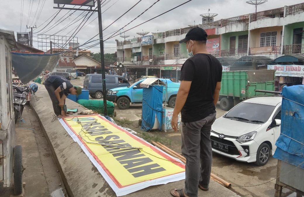 44 Ruko di Pasar Sarinah Rimbo Bujang di Pasang Nomor Urut