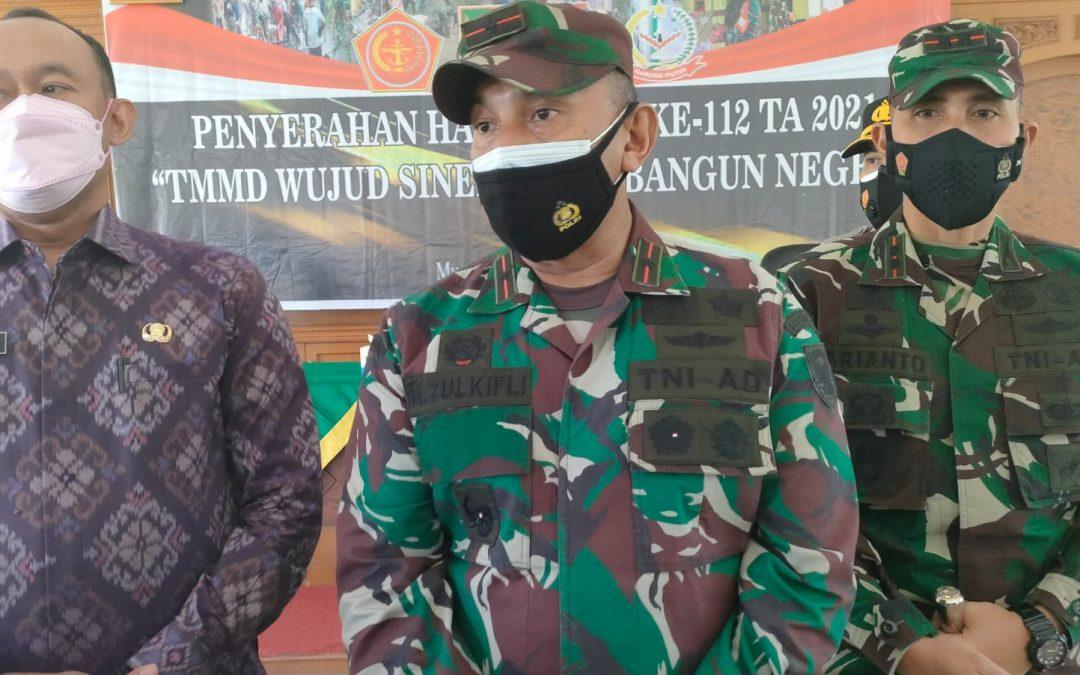 Tutup TMMD ke-112 Kodim 0416/Bute, Pandam II/Sriwijaya Ucapkan Terimakasih
