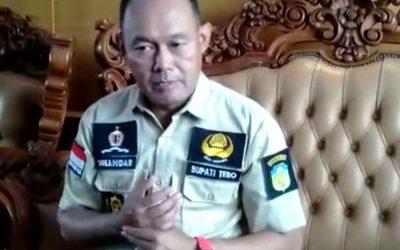 Bupati Tebo Belum Terima Laporan Masalah APDESI Tak Sampai ke Lombok